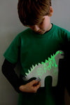 Blue Glow In The Dark Dinosaur T-Shirt