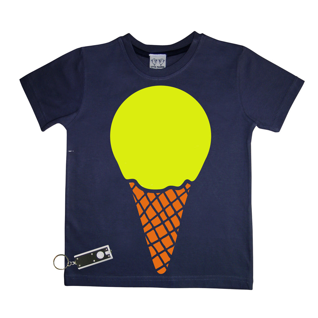 Blue Glow In The Dark Icecream T-Shirt