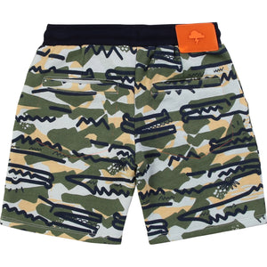 Boy Camo Cotton Shorts