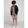 Boy Black Cotton Zip-Up Jacket