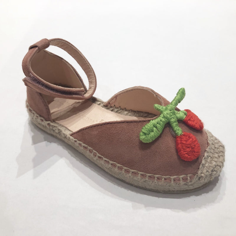Mini Macedonia Rose Suede Cherry Sandal