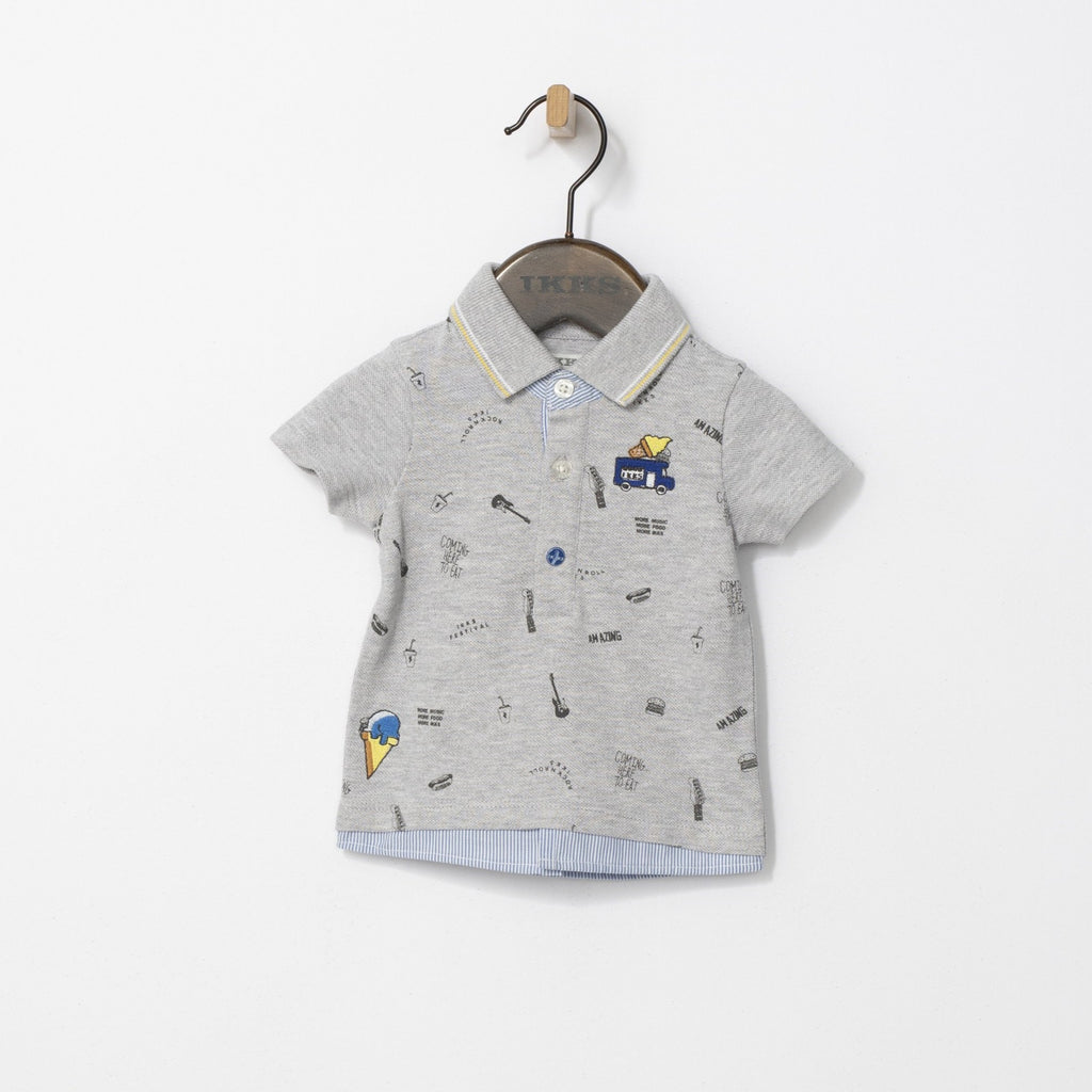 Boys' Grey Festival Polo T-shirt