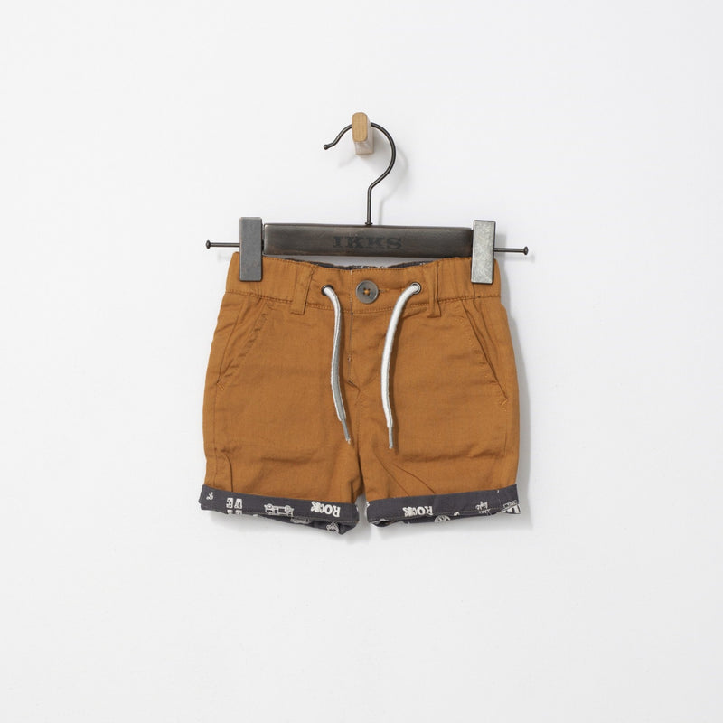 Baby Boys' Khaki Drawstring Shorts