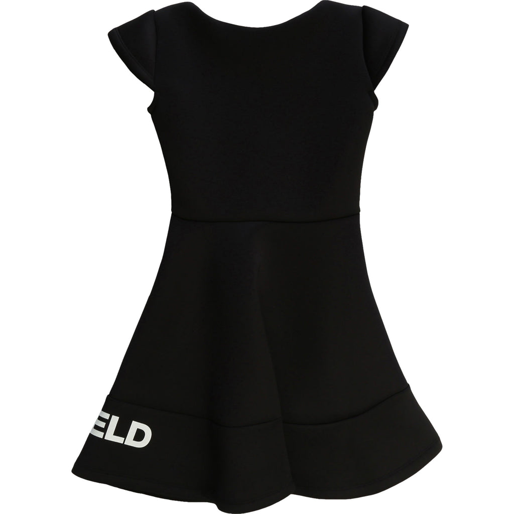 Girls Black Neoprene Dress