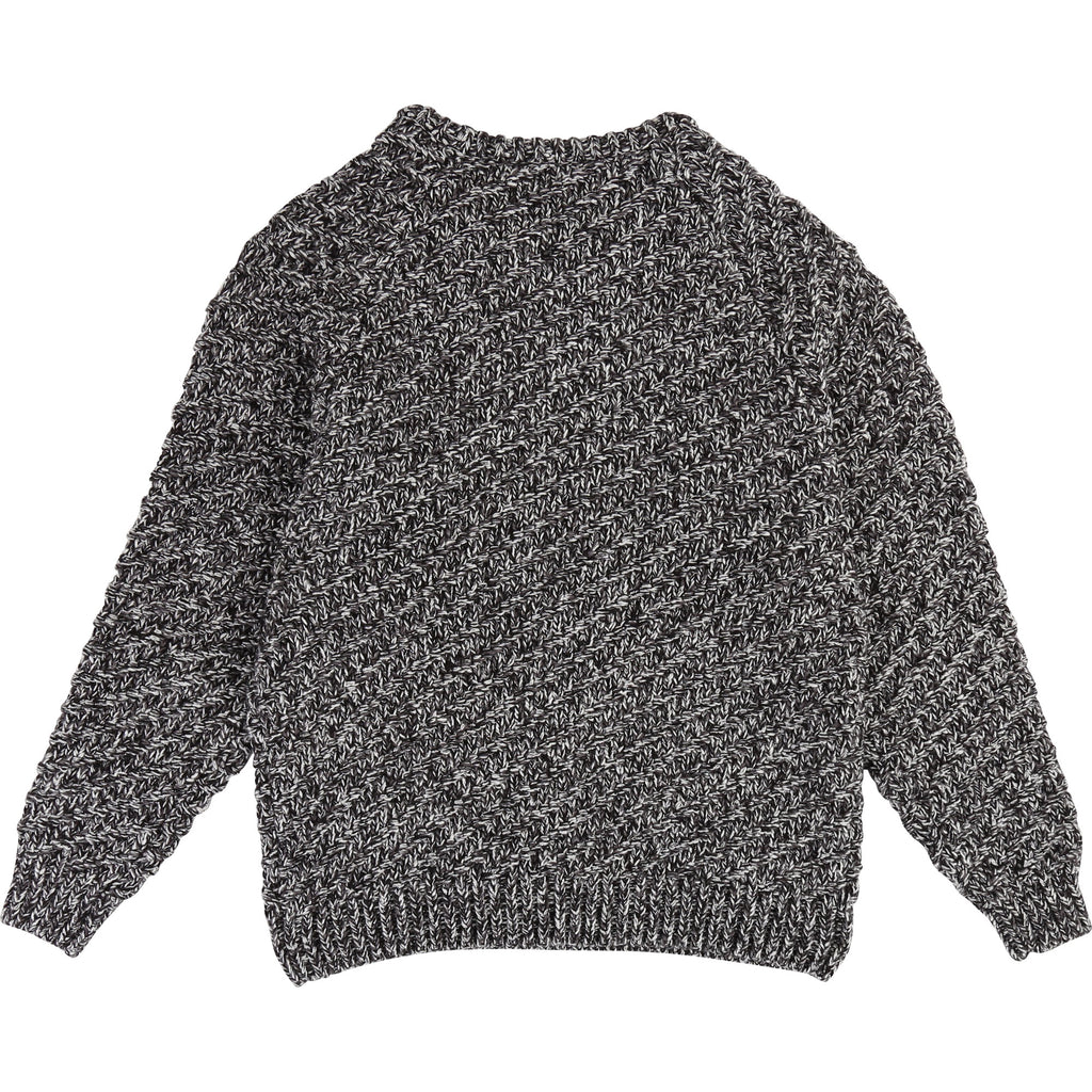 Girls Grey Knit Sweater