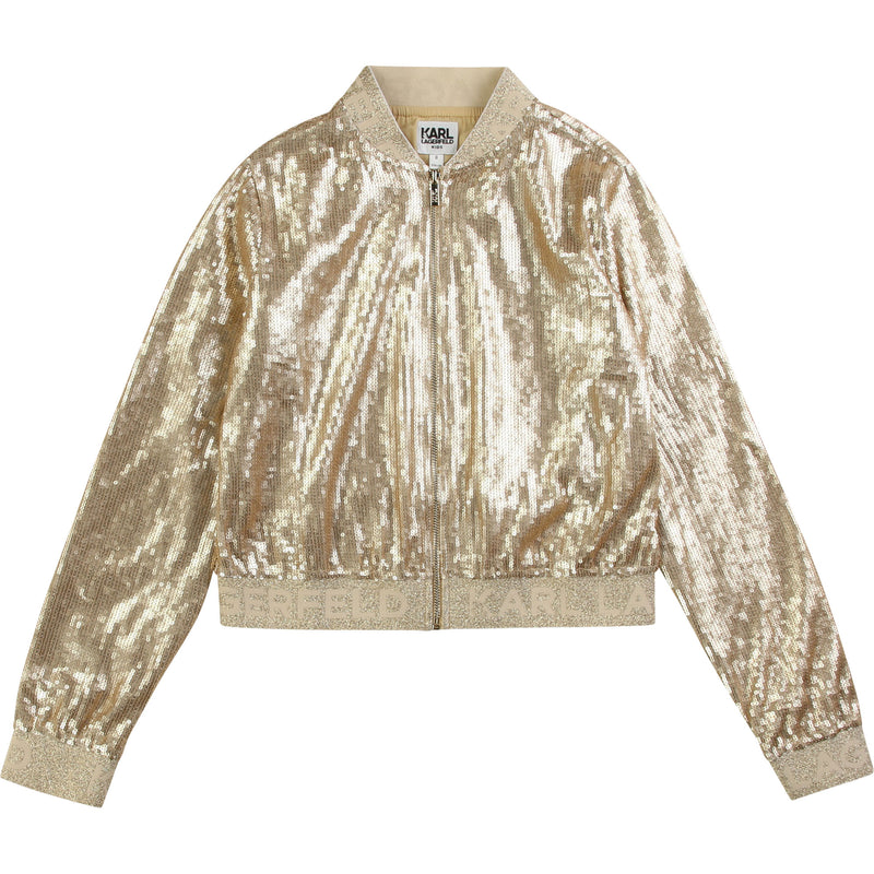 Girls Gold Sequin Jacket