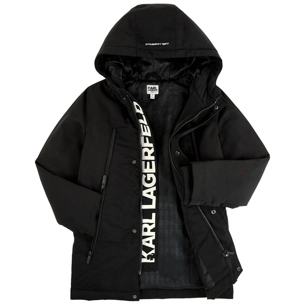 Boy Black Hooded Parka