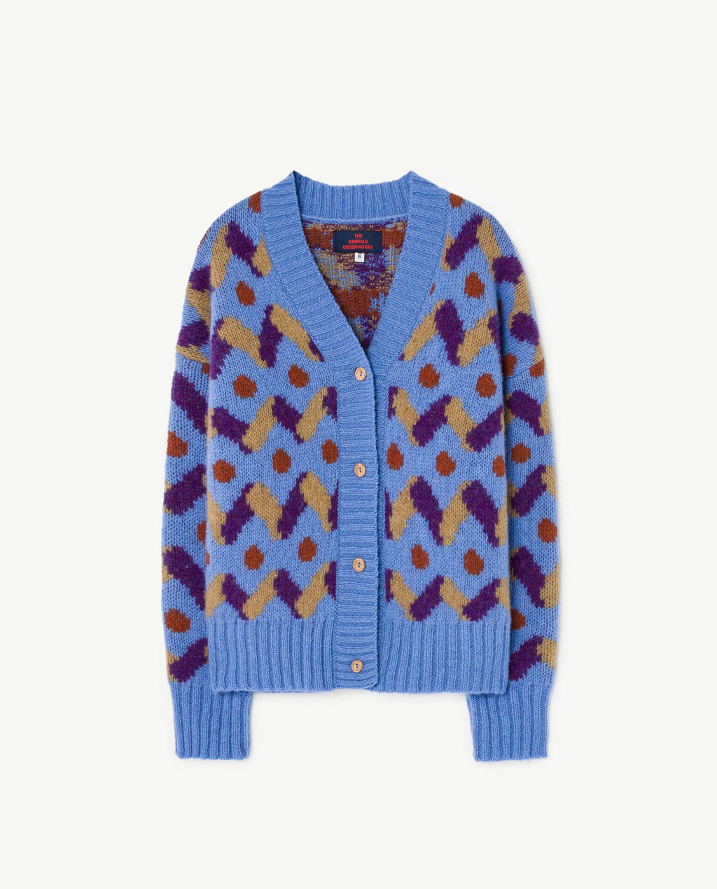 Blue Multicolour Cardigan