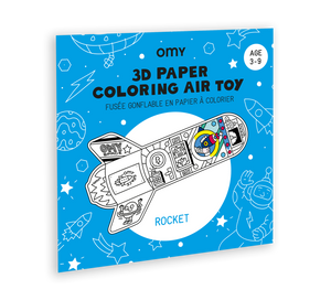 3D Paper Colouring Rocket Air Toy