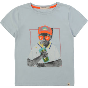 Boy Light Blue Cotton T-Shirt
