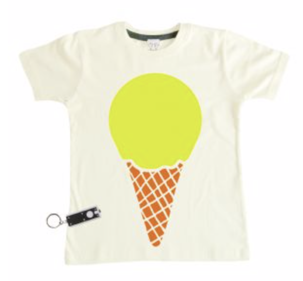 White Glow In The Dark Icecream T-Shirt