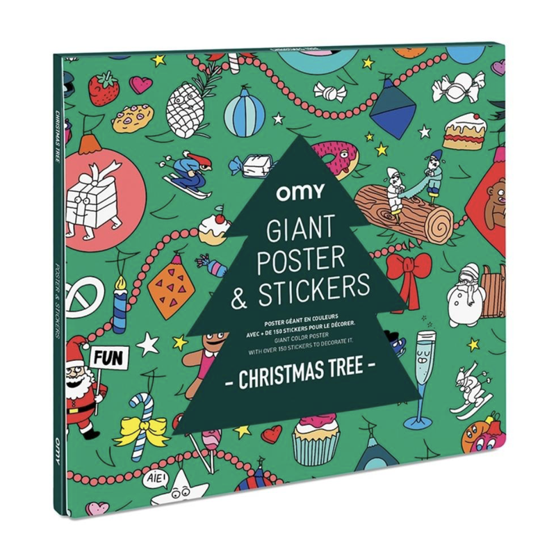 Giant Poster And Stickers Christmas Tree