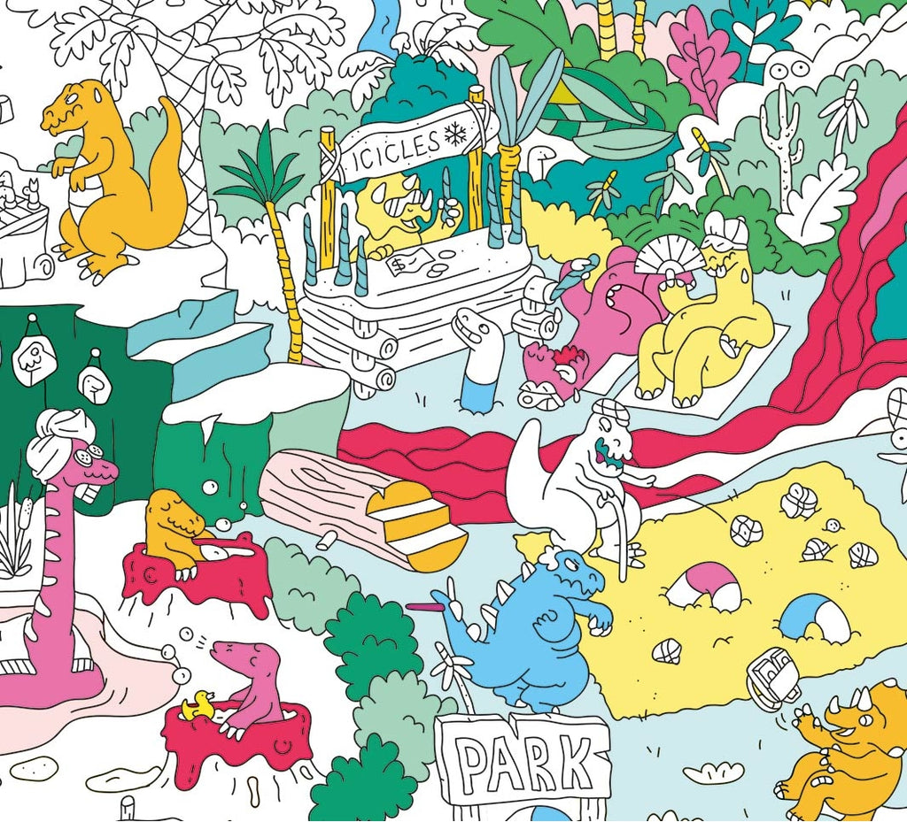 Giant Colouring Poster Dinosaurs