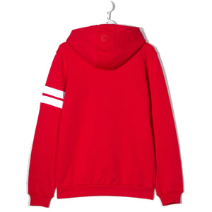 Red Logo Zip-Up Hoodie Jacket