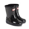 Hunter's classic rain boots with glittery star cloud black.