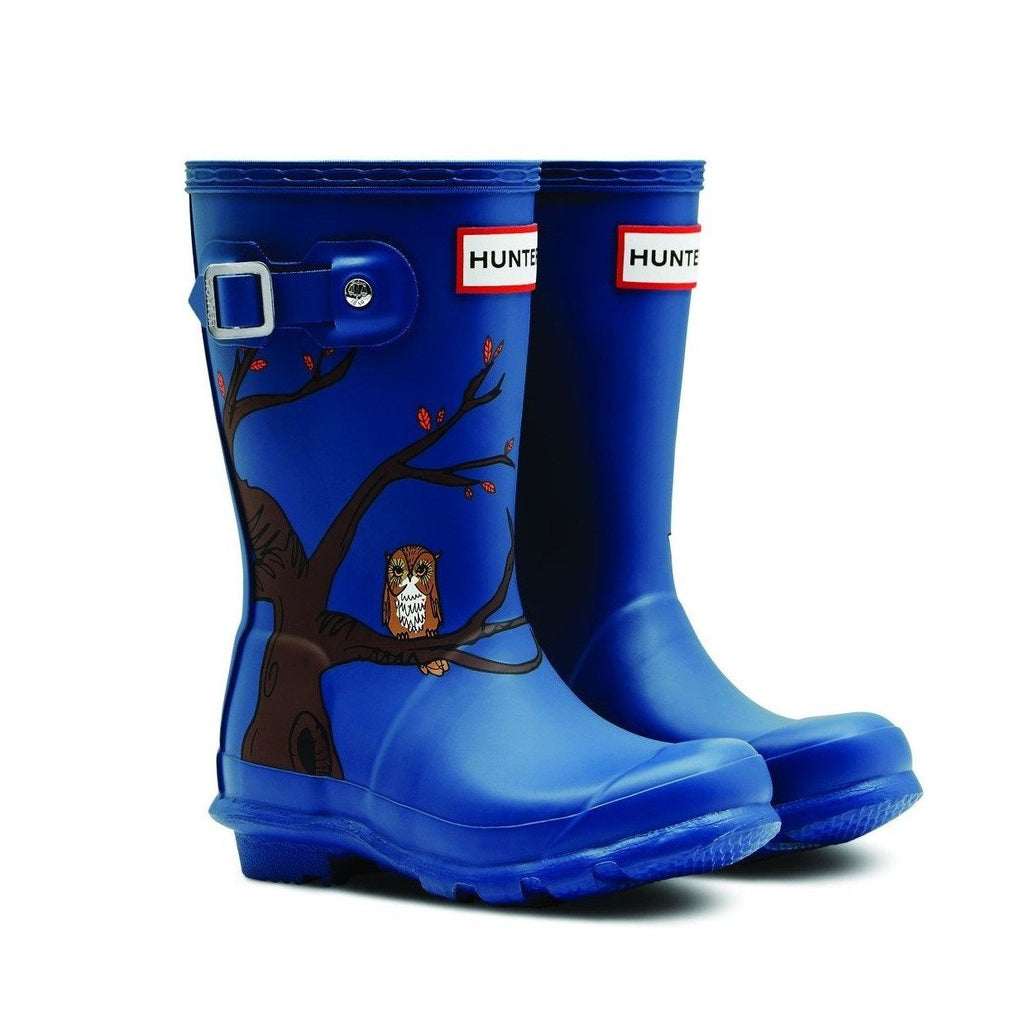 Kids Original Blue Woodland Rain Boots