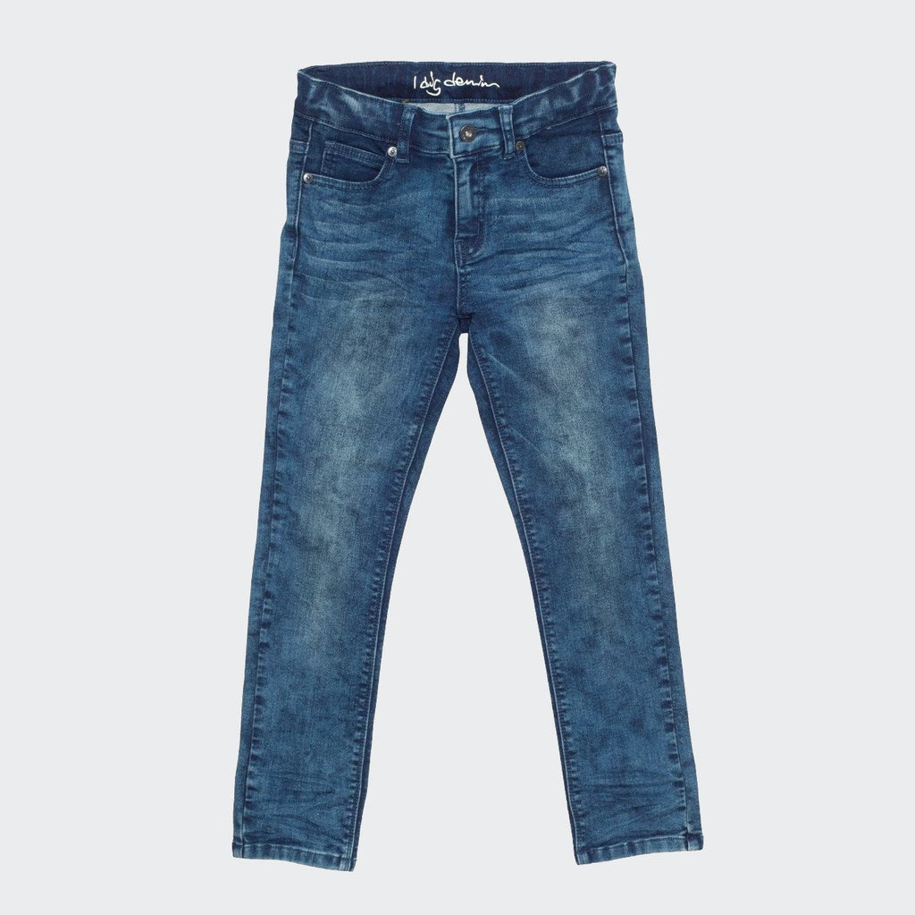 Children's slim fit blue washed jeans. Designed by I dig denim.