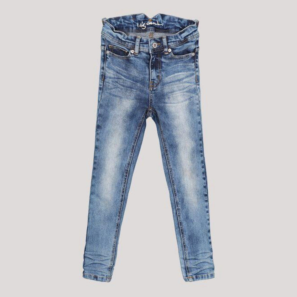 i dig denim blue and white washed style slim fit jean.