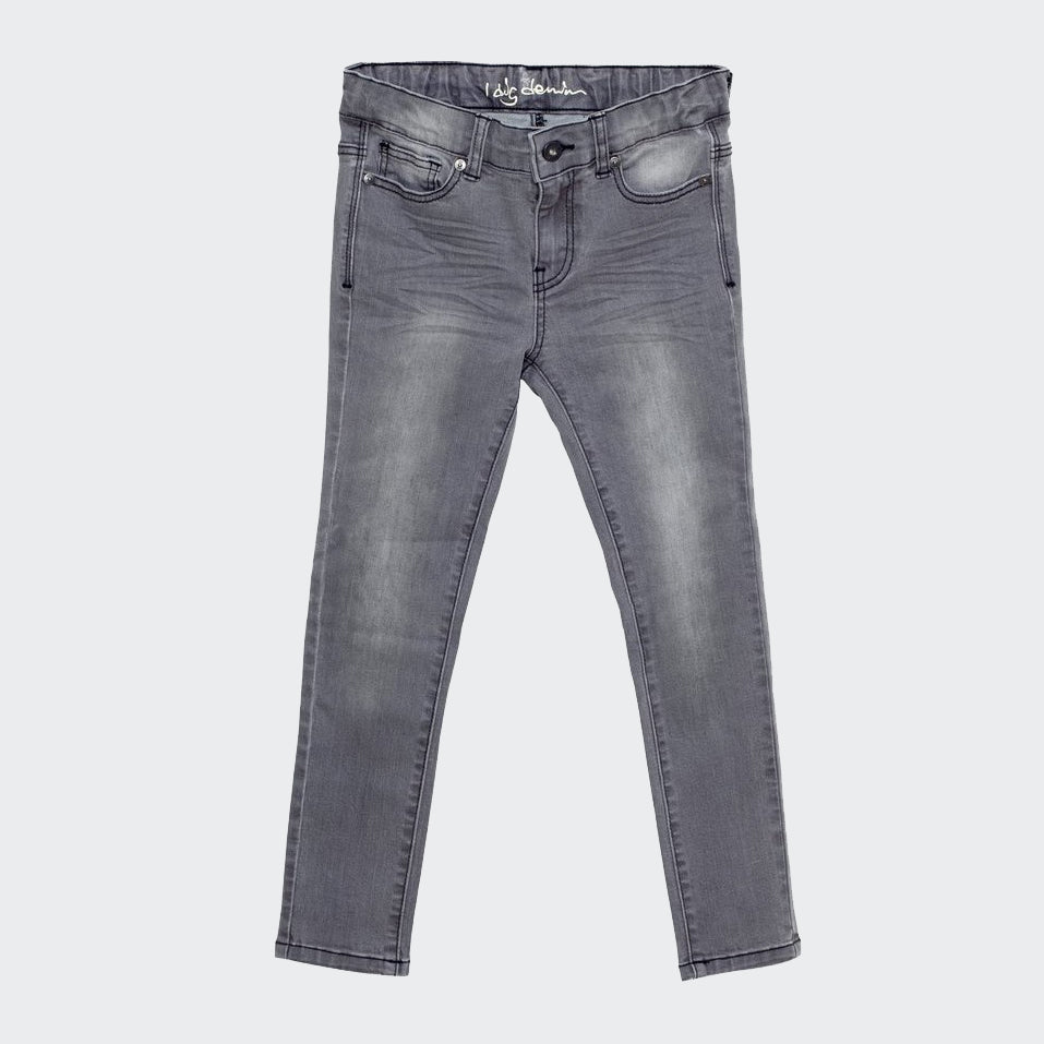 Children's I dig Denim jeans in matt grey. slim fit.