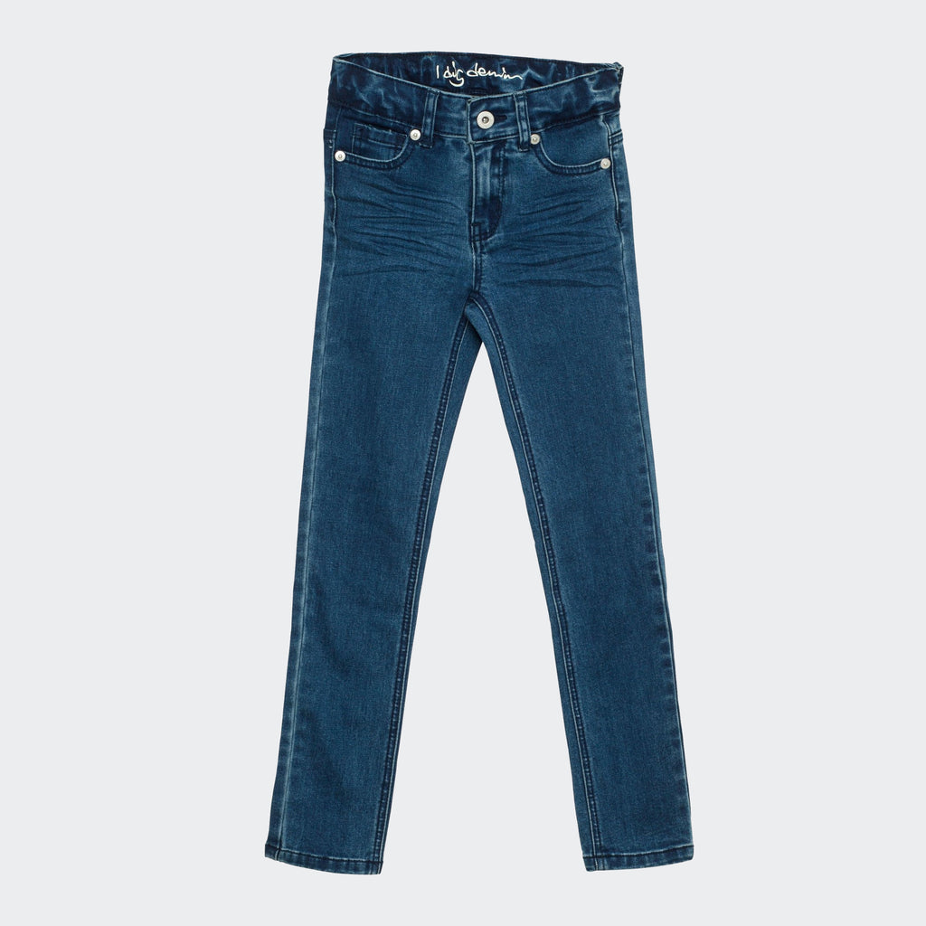 Children's I dig denim slim fit blue jeans.