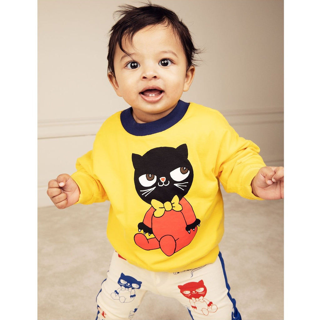 Yellow Reversible Animals Sweatshirt
