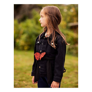 Girls Black Denim Jacket