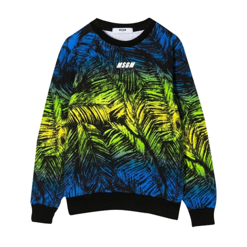 Multicolor Palm Print Sweatshirt
