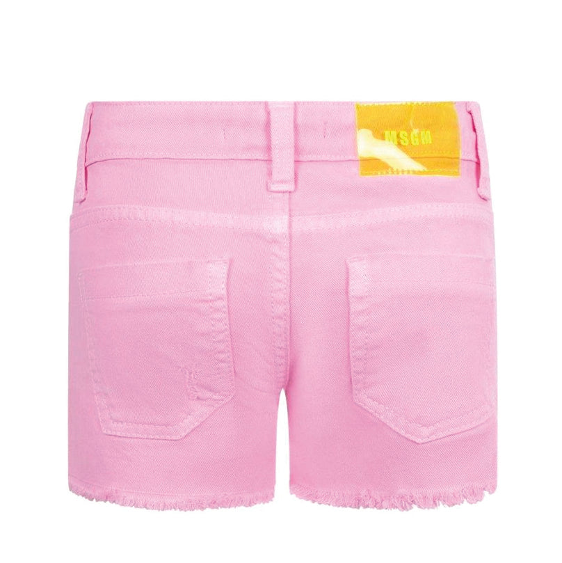 Pink Logo Low-Rise Shorts