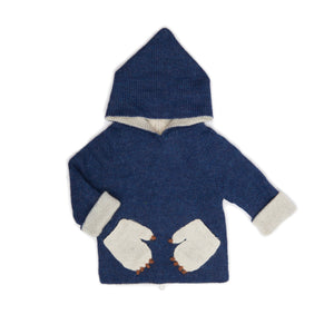 Little Claws Reversible Knit Sweater Hoodie