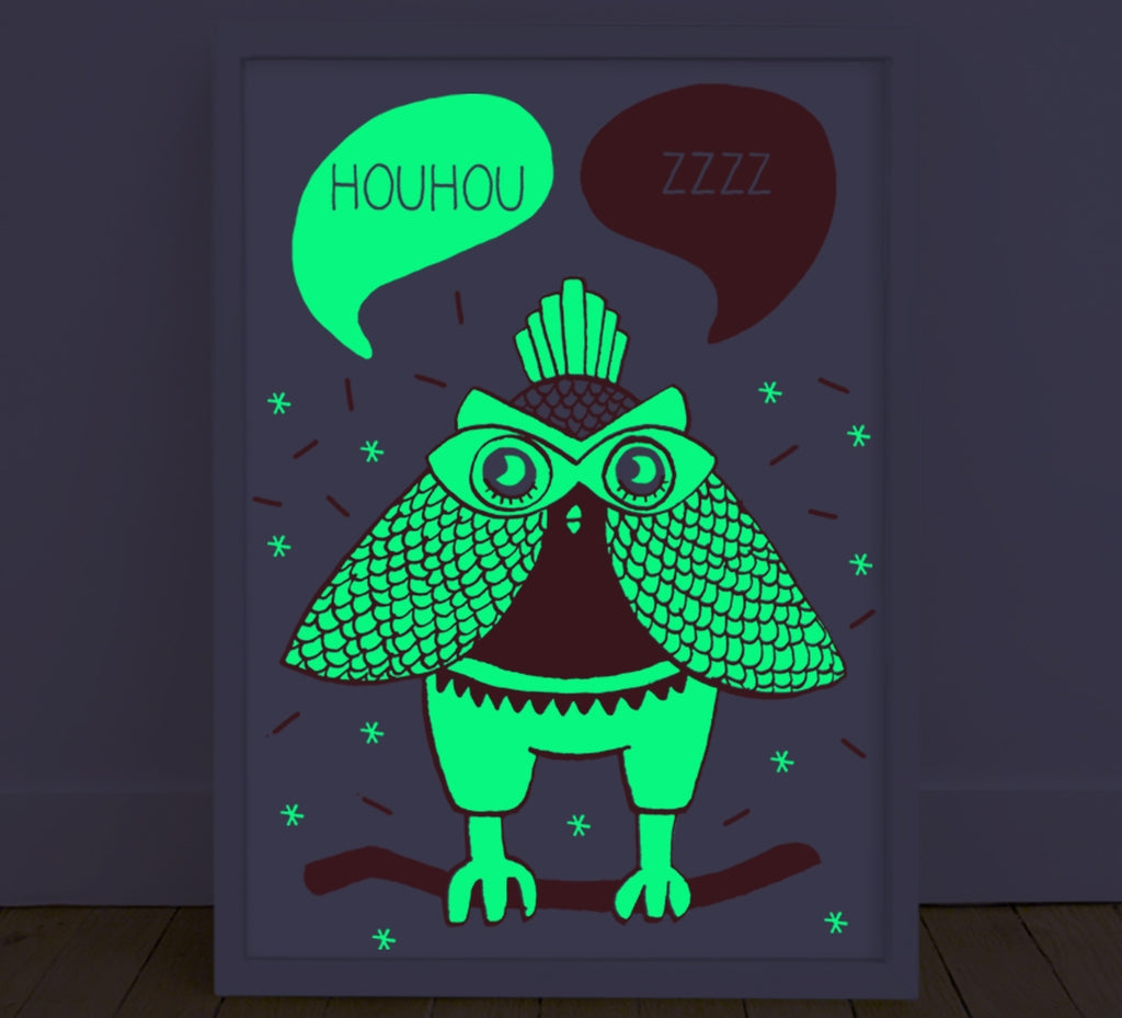 Glow In The Dark Poster Owl