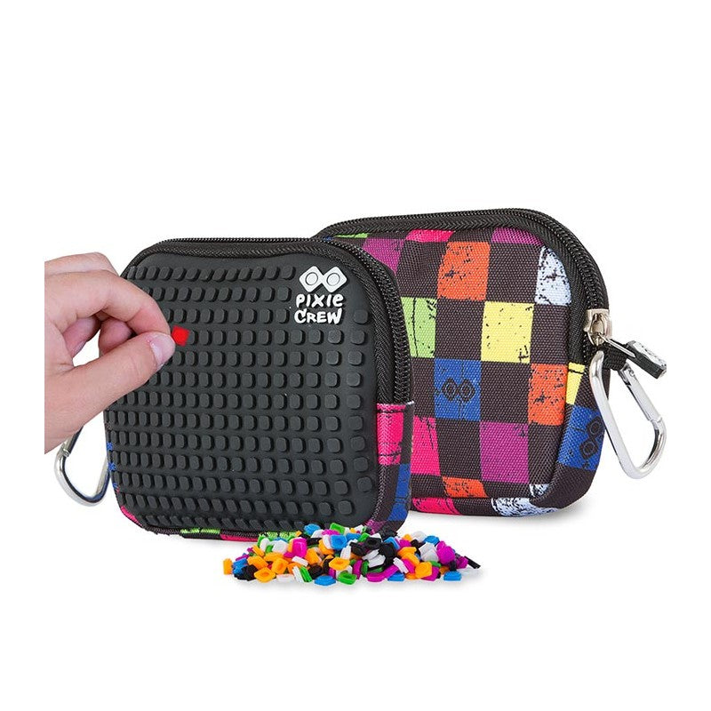 Multicolour Checkered Pouch