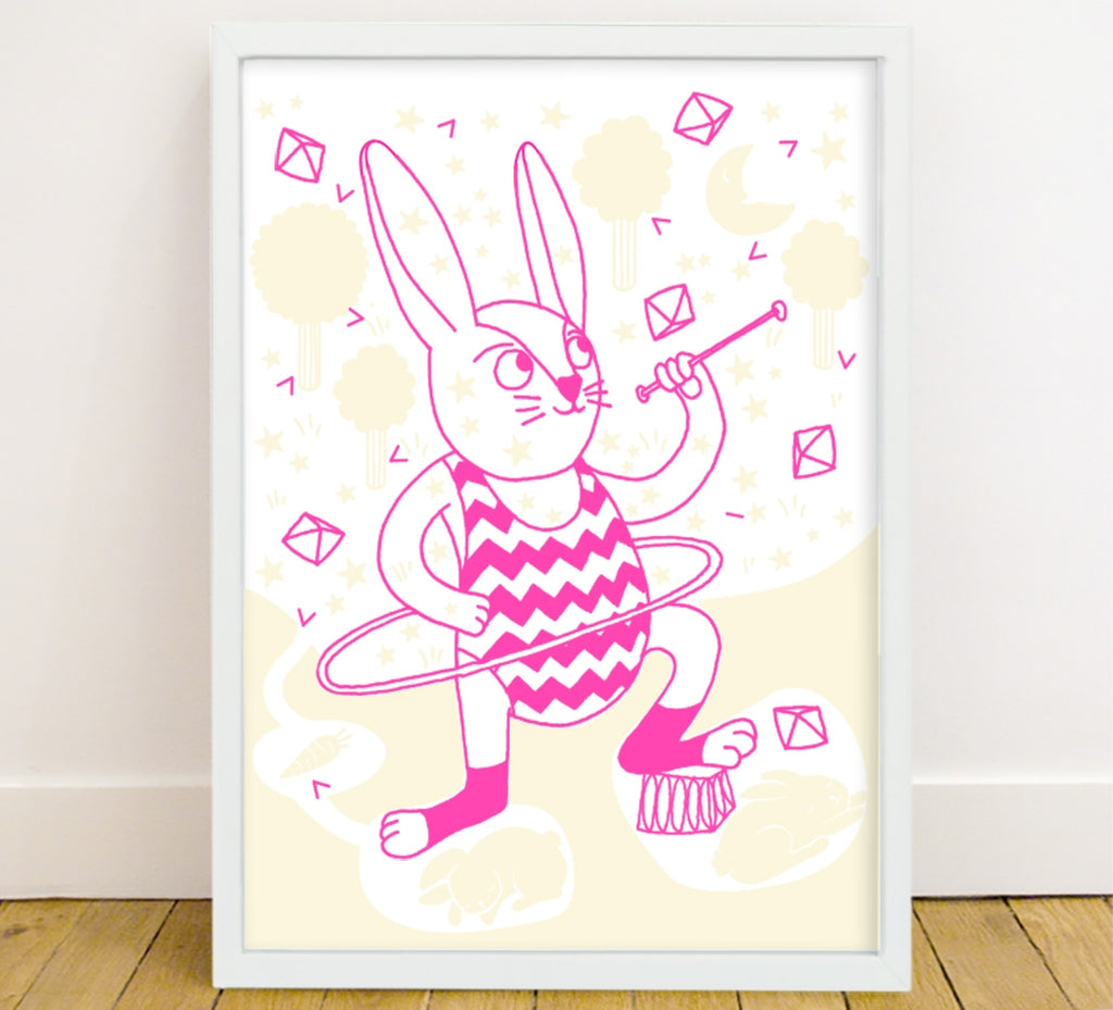 Glow In The Dark Poster Rabbit