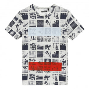 Boys' Black and White Collage T-shirt