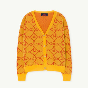 Yellow Graphic Print Cardigan