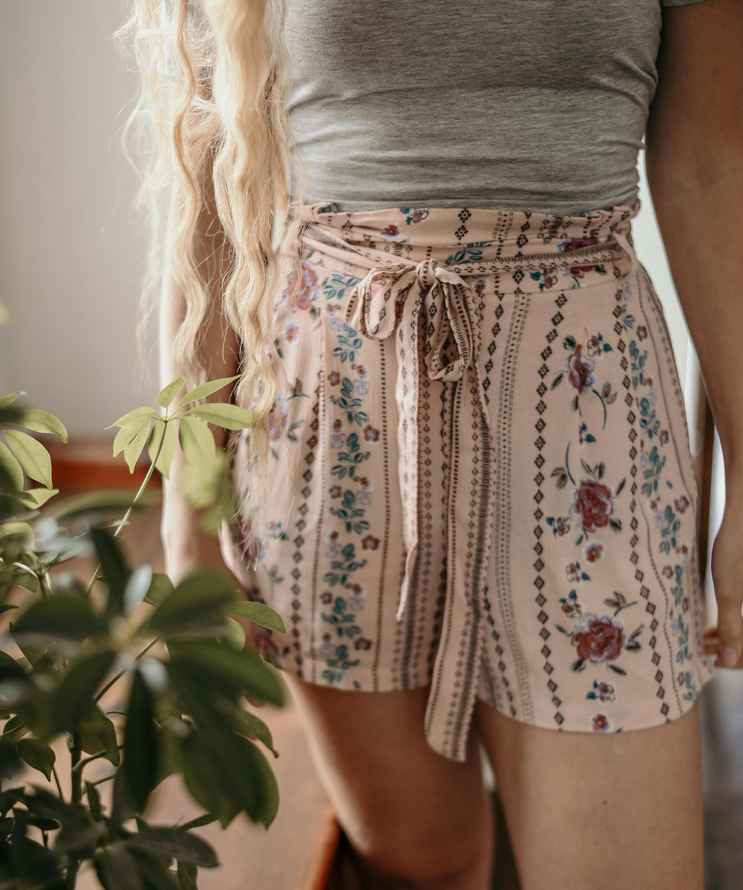 Bianca High Rise Floral Shorts