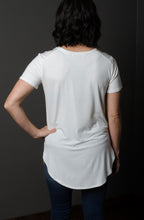 Basic V-Neck Tee in Ivory