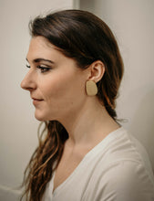Wooden Block Earrings