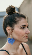 Dusty Blue Macramé Earrings