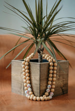 Spanish Beaded Necklace in Taupe