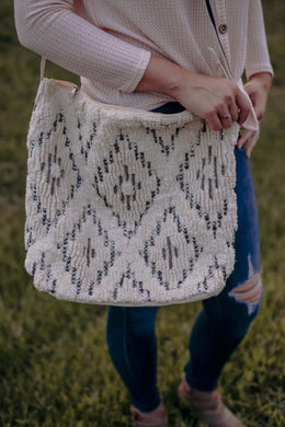 Boho Diamond Motif Bag