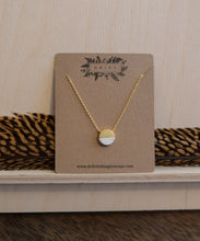 Circle + White Marble Necklace