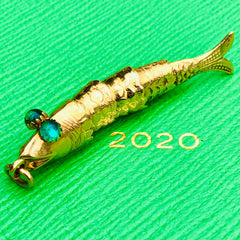 18K Gold Articulated Fish Pendant