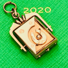 14K Rose Gold Lucky Locket Spinner Pendant