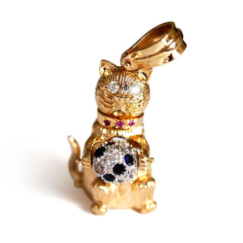 Vintage Articulated Gold Cat