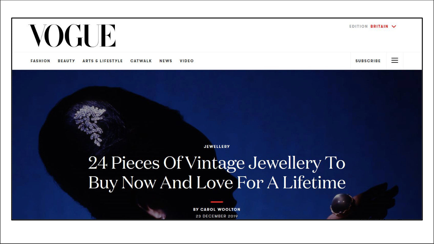 Vintage Jewellery To Love For a Lifetime British Vogue