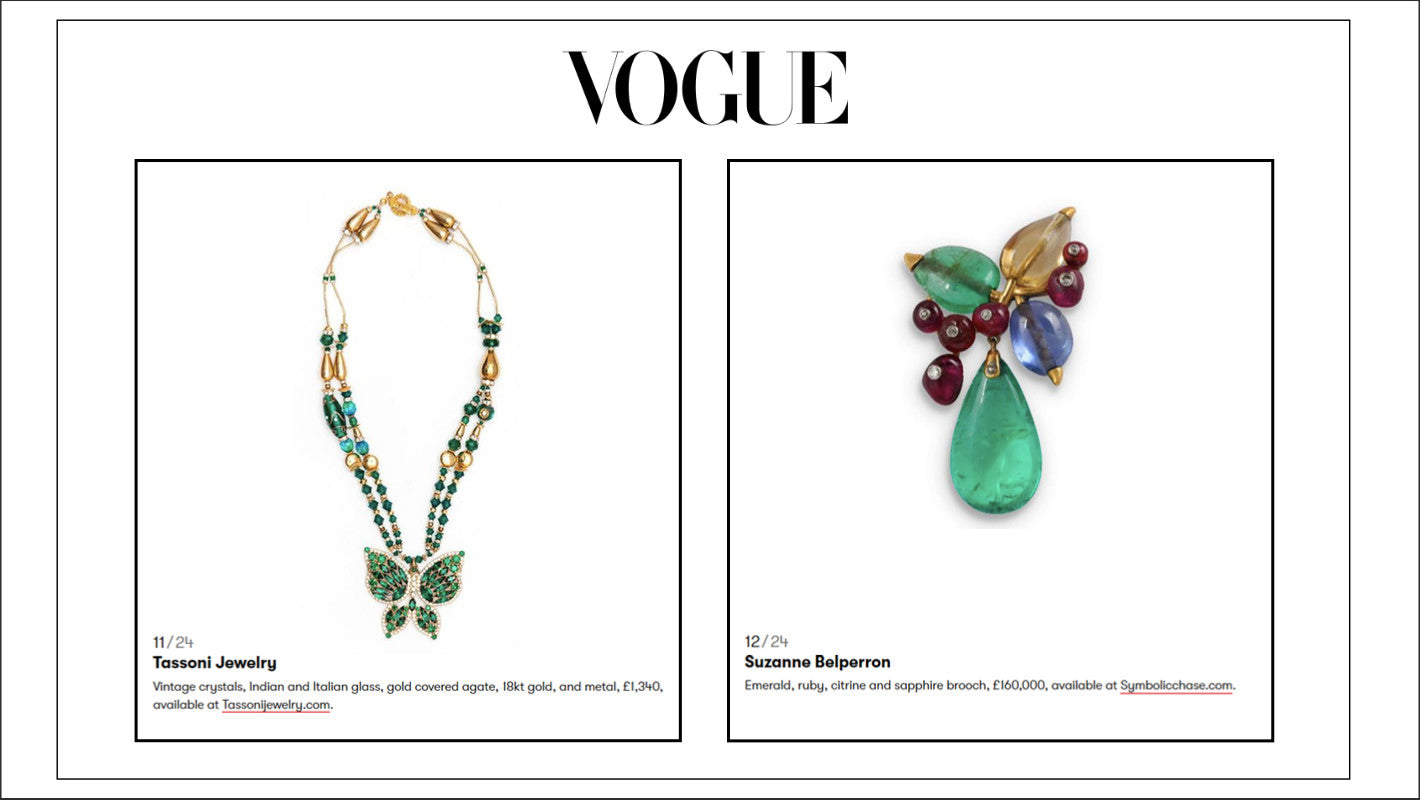 As Seen in British Vogue Article: Vintage Jewellery To Love For A Lifetime