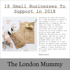 The London Mummy: 18 Small Businesses To Support in 2018