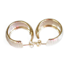 Silver Linings: Large Disco Hoop Earrings