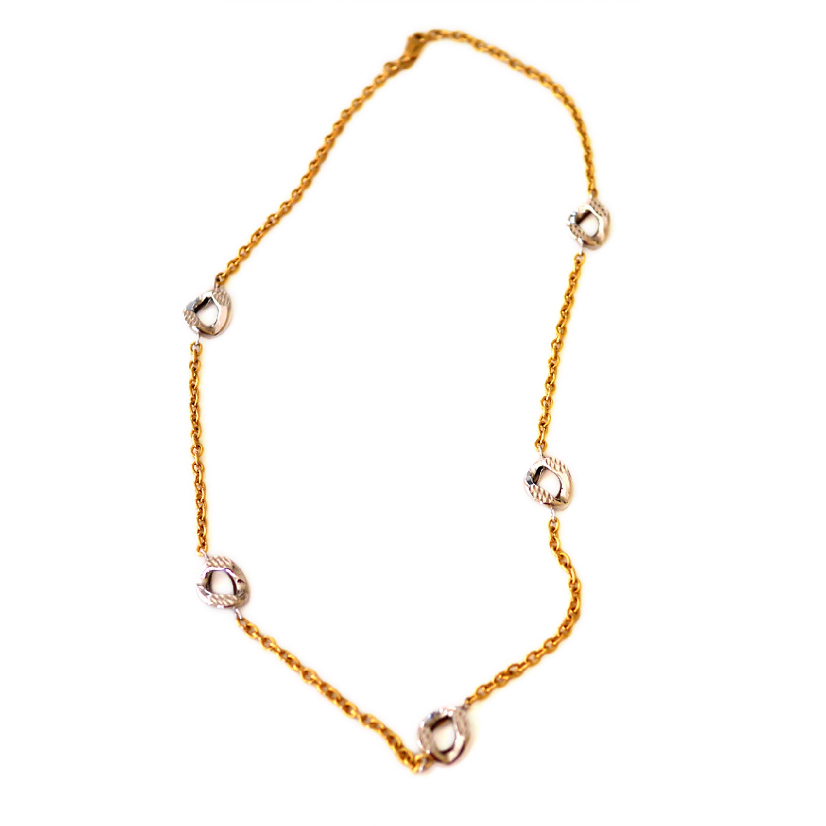 Gold Glorious Gold: Bi Coloured Link Necklace