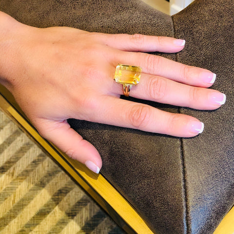 Enormous Citrine Corker of a Cocktail Ring
